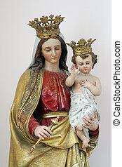 bebé, Virgen, maría, bendito,  Jesús