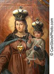bebé, virgen maria, bendito, jesús