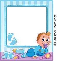 bebê, 1, tema, quadro