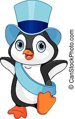 bebê ano novo, pingüim