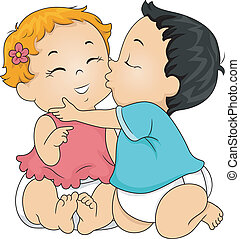 bebê, beijo