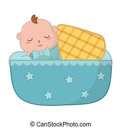 bebê, berço, dormir