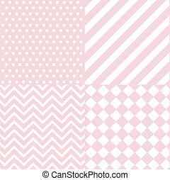 bebê, cor-de-rosa, menina, seamless, padrão