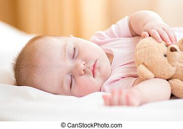 bebê, criança, dormir