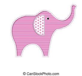 bebê, cute, elefantes