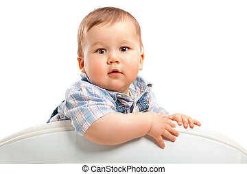 bebê, cute, pequeno, branca, menino