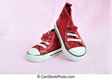 bebê, cute, sapatos