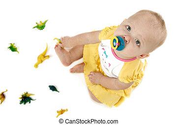bebê, dinossauros