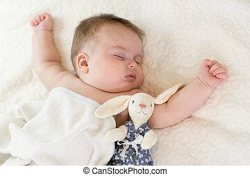 bebê, doce, dormir