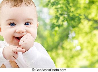 bebê, doce, pequeno, cima fim