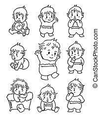 bebê, doodle