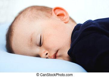 bebê, dormir, retrato