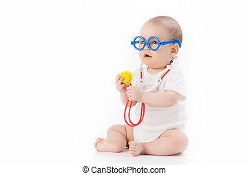 bebê, -, doutor