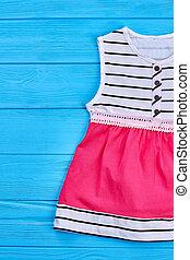 bebê, elegante, verão, algodão, dress.