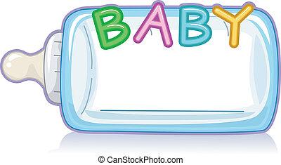 bebê, garrafa leite