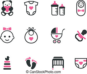 bebê, icons.