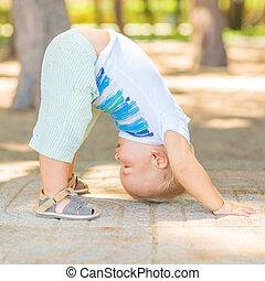 bebê, ioga