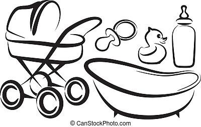bebê, itens, jogo