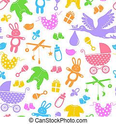 bebê, itens, padrão