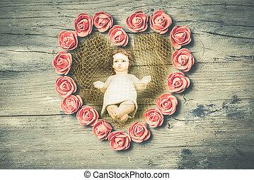 bebê jesus, card., natal