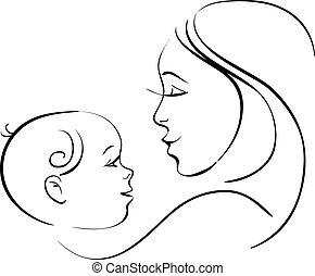 bebê, mãe