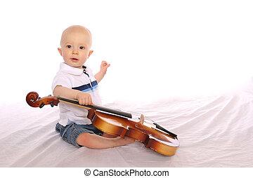 bebê, músico, um