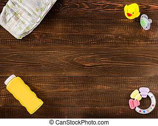 bebê, madeira, bens, fundo