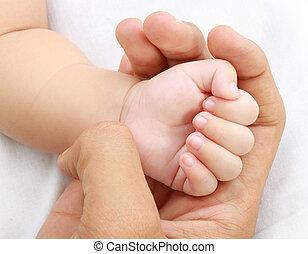 bebê, pouca mão