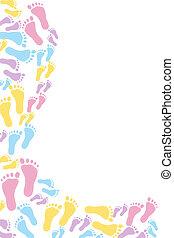 bebê, quadro, multi-colorido