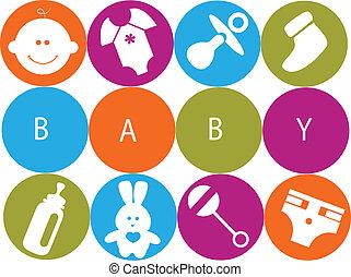 bebê recém-nascido, acessórios, cartão
