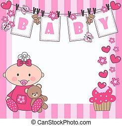 bebê recém-nascido, menina