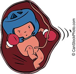 bebê recém-nascido, vetorial, dormir