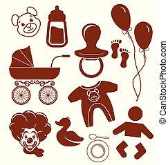 bebê, símbolos