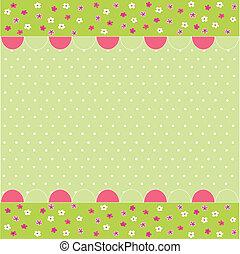 bebê, seamless, cartão, padrão