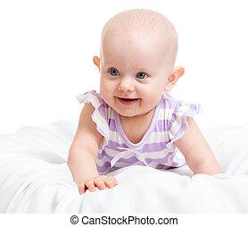 bebê sorridente, menina