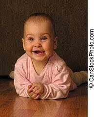 bebê, sorrizo