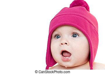 bebê, surpreendido