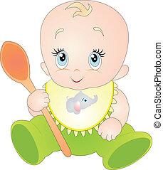 bebê, vetorial