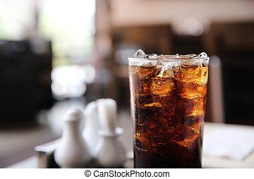 bebendo, madeira, fundo, cola