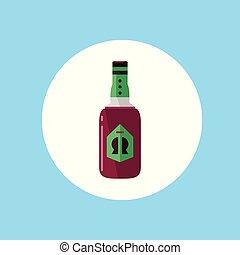 bebida, alcohólico, icono