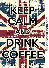 bebida, café