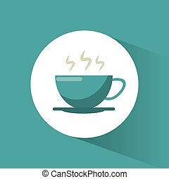 bebida café, quentes, copo