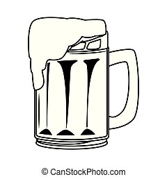 bebida, caricatura, bebida, alcohólico