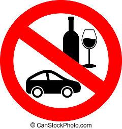 bebida, conduzir, não