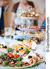 Bebida, Conjunto, servicio, restaurante, alimento, cubiertos, abastecimiento, vidrio, tabla, fiesta,  Stemware, Antes
