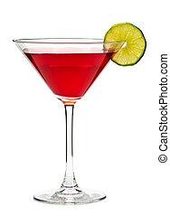 bebida, cosmopolita, cóctel