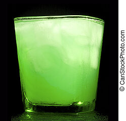 bebida, hortelã, gelo