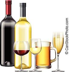 bebida, jogo, alcoólico