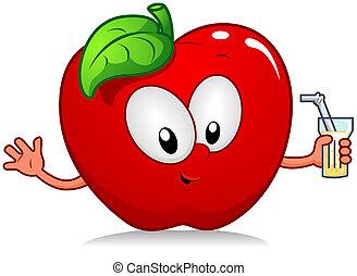 bebida, manzana