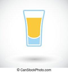 bebida, tiro